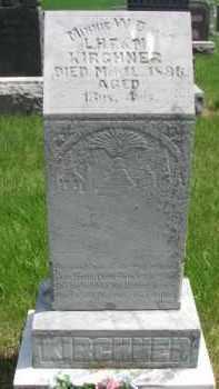 KIRCHNER, MINNIE W. - Dixon County, Nebraska | MINNIE W. KIRCHNER - Nebraska Gravestone Photos