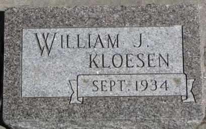 KLOESEN, WILLIAM J. - Dixon County, Nebraska | WILLIAM J. KLOESEN - Nebraska Gravestone Photos