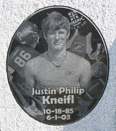 KNEIFL, JUSTIN PHILIP (CLOSE UP) - Dixon County, Nebraska | JUSTIN PHILIP (CLOSE UP) KNEIFL - Nebraska Gravestone Photos