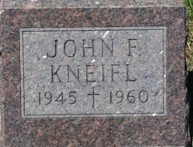 KNEIFL, JOHN F. - Dixon County, Nebraska | JOHN F. KNEIFL - Nebraska Gravestone Photos
