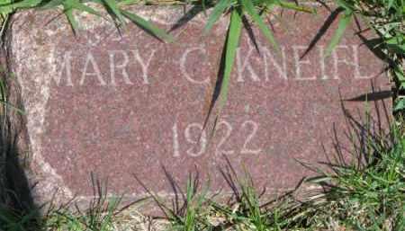 KNEIFL, MARY C. - Dixon County, Nebraska   MARY C. KNEIFL - Nebraska Gravestone Photos