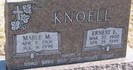 KNOELL, ERNEST E. - Dixon County, Nebraska | ERNEST E. KNOELL - Nebraska Gravestone Photos