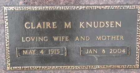KNUDSEN, CLAIRE M. - Dixon County, Nebraska | CLAIRE M. KNUDSEN - Nebraska Gravestone Photos