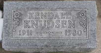 KNUDSEN, KENDALL - Dixon County, Nebraska | KENDALL KNUDSEN - Nebraska Gravestone Photos