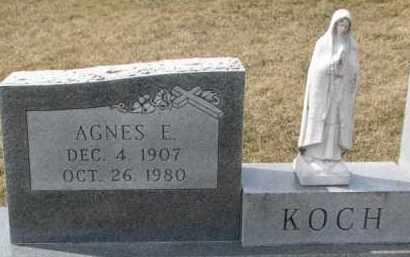 KOCH, AGNES E. - Dixon County, Nebraska   AGNES E. KOCH - Nebraska Gravestone Photos
