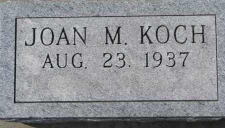 KOCH, JOAN M. - Dixon County, Nebraska   JOAN M. KOCH - Nebraska Gravestone Photos