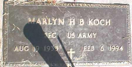 KOCH, MARLYN H.B. - Dixon County, Nebraska | MARLYN H.B. KOCH - Nebraska Gravestone Photos