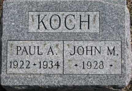 KOCH, PAUL A. - Dixon County, Nebraska   PAUL A. KOCH - Nebraska Gravestone Photos