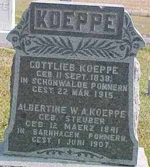 KOEPPE, ALBERTINE W. A. - Dixon County, Nebraska | ALBERTINE W. A. KOEPPE - Nebraska Gravestone Photos