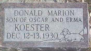 KOESTER, DONALD MARION - Dixon County, Nebraska | DONALD MARION KOESTER - Nebraska Gravestone Photos