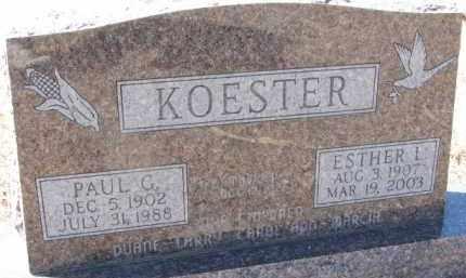 KOESTER, ESTHER L. - Dixon County, Nebraska   ESTHER L. KOESTER - Nebraska Gravestone Photos
