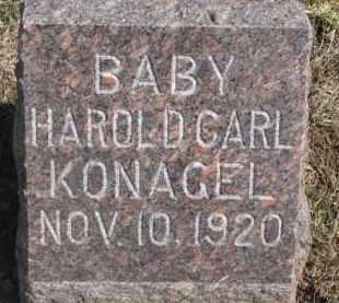KONAGEL, HAROLD CARL - Dixon County, Nebraska | HAROLD CARL KONAGEL - Nebraska Gravestone Photos