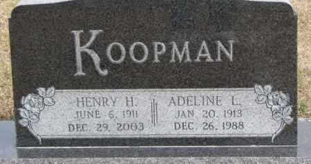 KOOPMAN, ADELINE L. - Dixon County, Nebraska | ADELINE L. KOOPMAN - Nebraska Gravestone Photos