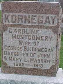 MARRIOTT KORNEGAY, CAROLINE MONTGOMERY - Dixon County, Nebraska | CAROLINE MONTGOMERY MARRIOTT KORNEGAY - Nebraska Gravestone Photos