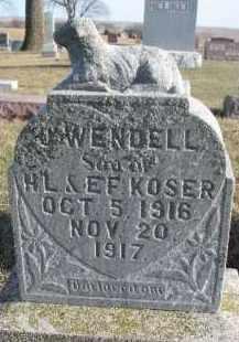 KOSER, J. WENDELL - Dixon County, Nebraska | J. WENDELL KOSER - Nebraska Gravestone Photos