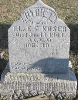 KOSER, RUTHIE M. - Dixon County, Nebraska | RUTHIE M. KOSER - Nebraska Gravestone Photos