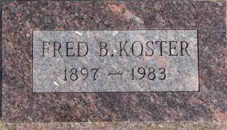 KOSTER, FRED B. - Dixon County, Nebraska | FRED B. KOSTER - Nebraska Gravestone Photos