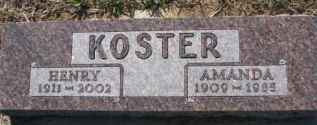 KOSTER, HENRY - Dixon County, Nebraska | HENRY KOSTER - Nebraska Gravestone Photos