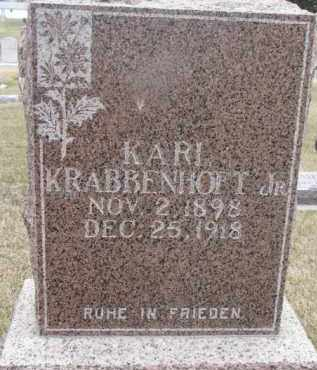KRABBENHOFT, KARL JR. - Dixon County, Nebraska | KARL JR. KRABBENHOFT - Nebraska Gravestone Photos