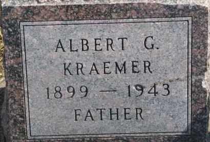 KRAEMER, ALBERT G. - Dixon County, Nebraska | ALBERT G. KRAEMER - Nebraska Gravestone Photos