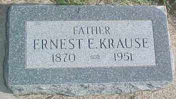 KRAUSE, ERNEST E. - Dixon County, Nebraska | ERNEST E. KRAUSE - Nebraska Gravestone Photos