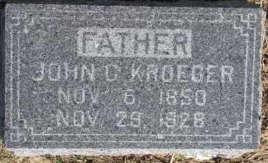 KROEGER, JOHN C. - Dixon County, Nebraska | JOHN C. KROEGER - Nebraska Gravestone Photos