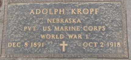 KROPF, ADOLPH - Dixon County, Nebraska | ADOLPH KROPF - Nebraska Gravestone Photos