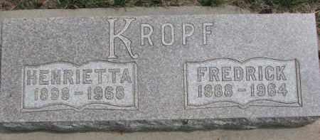 KROPF, HENRIETTA - Dixon County, Nebraska | HENRIETTA KROPF - Nebraska Gravestone Photos