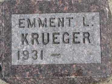 KRUEGER, EMMENT L. - Dixon County, Nebraska | EMMENT L. KRUEGER - Nebraska Gravestone Photos