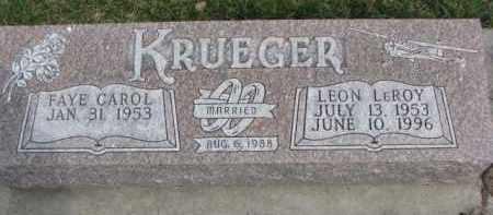 KRUEGER, FAYE CAROL - Dixon County, Nebraska | FAYE CAROL KRUEGER - Nebraska Gravestone Photos