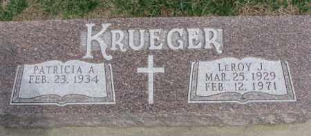 KRUEGER, LEROY J. - Dixon County, Nebraska | LEROY J. KRUEGER - Nebraska Gravestone Photos