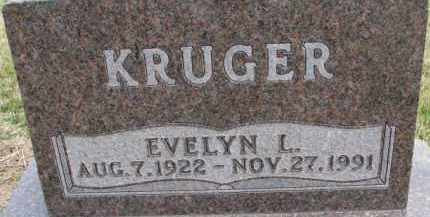 KRUGER, EVELYN L. - Dixon County, Nebraska | EVELYN L. KRUGER - Nebraska Gravestone Photos