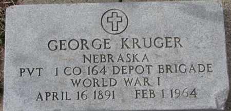 KRUGER, GEORGE - Dixon County, Nebraska | GEORGE KRUGER - Nebraska Gravestone Photos
