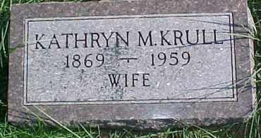 KRULL, KATHRYN M. - Dixon County, Nebraska | KATHRYN M. KRULL - Nebraska Gravestone Photos