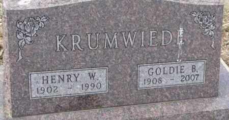 KRUMWIEDE, GOLDIE B. - Dixon County, Nebraska   GOLDIE B. KRUMWIEDE - Nebraska Gravestone Photos