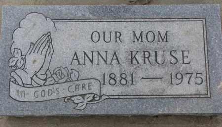 KRUSE, ANNA - Dixon County, Nebraska | ANNA KRUSE - Nebraska Gravestone Photos