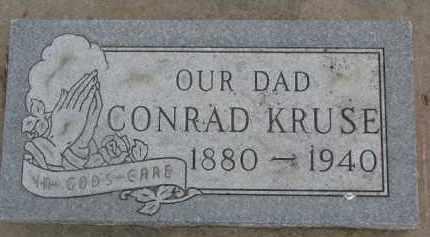 KRUSE, CONRAD - Dixon County, Nebraska | CONRAD KRUSE - Nebraska Gravestone Photos