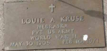 KRUSE, LOUIE A. (WW II MARKER) - Dixon County, Nebraska | LOUIE A. (WW II MARKER) KRUSE - Nebraska Gravestone Photos