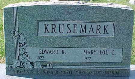 KRUSEMARK, EDWARD R. - Dixon County, Nebraska   EDWARD R. KRUSEMARK - Nebraska Gravestone Photos