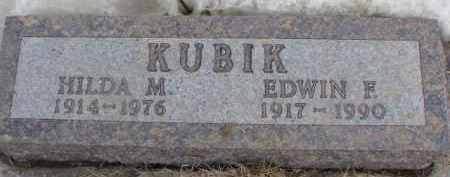 KUBIK, EDWIN F. - Dixon County, Nebraska | EDWIN F. KUBIK - Nebraska Gravestone Photos