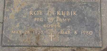 KUBIK, ROY D. (MILITARY MARKER) - Dixon County, Nebraska | ROY D. (MILITARY MARKER) KUBIK - Nebraska Gravestone Photos