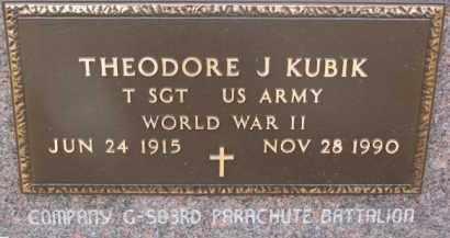 KUBIK, THEODORE J. (WW II MARKER) - Dixon County, Nebraska | THEODORE J. (WW II MARKER) KUBIK - Nebraska Gravestone Photos