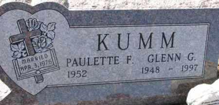 KUMM, PAULETTE F. - Dixon County, Nebraska | PAULETTE F. KUMM - Nebraska Gravestone Photos
