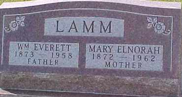 LAMM, WM. EVERETT - Dixon County, Nebraska | WM. EVERETT LAMM - Nebraska Gravestone Photos