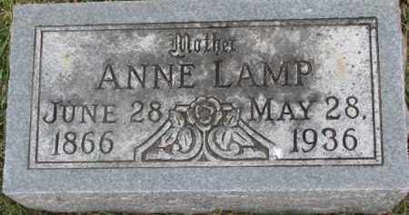 LAMP, ANNE - Dixon County, Nebraska | ANNE LAMP - Nebraska Gravestone Photos