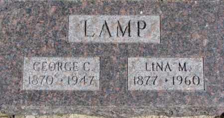 LAMP, GEORGE C. - Dixon County, Nebraska   GEORGE C. LAMP - Nebraska Gravestone Photos