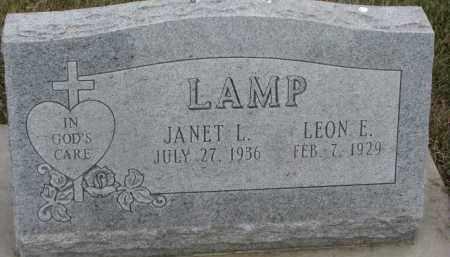 LAMP, JANET L. - Dixon County, Nebraska | JANET L. LAMP - Nebraska Gravestone Photos
