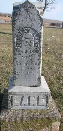 LANE, CHARLES - Dixon County, Nebraska | CHARLES LANE - Nebraska Gravestone Photos