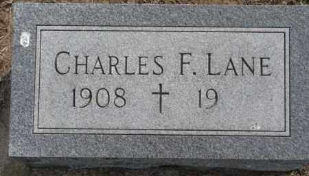 LANE, CHARLES F. - Dixon County, Nebraska | CHARLES F. LANE - Nebraska Gravestone Photos