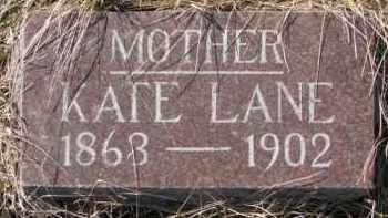 LANE, KATE (STONE 1 OF 2) - Dixon County, Nebraska | KATE (STONE 1 OF 2) LANE - Nebraska Gravestone Photos